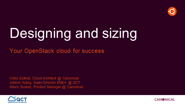 Webinar: Designing & Sizing OpenStack for Success