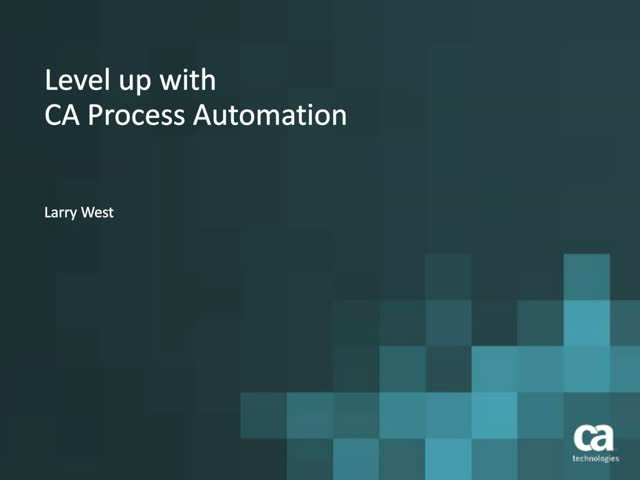 Level Up with Process Automation