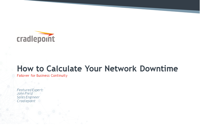 How to Calculate Your Network Downtime