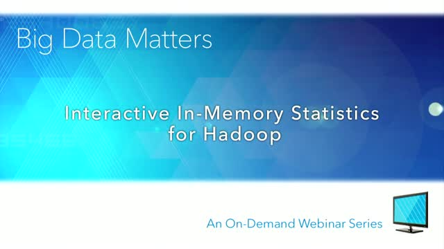Interactive In-Memory Statistics for Hadoop