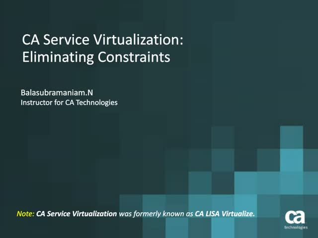 Accelerate Development by Learning How to Use CA Service Virtualization