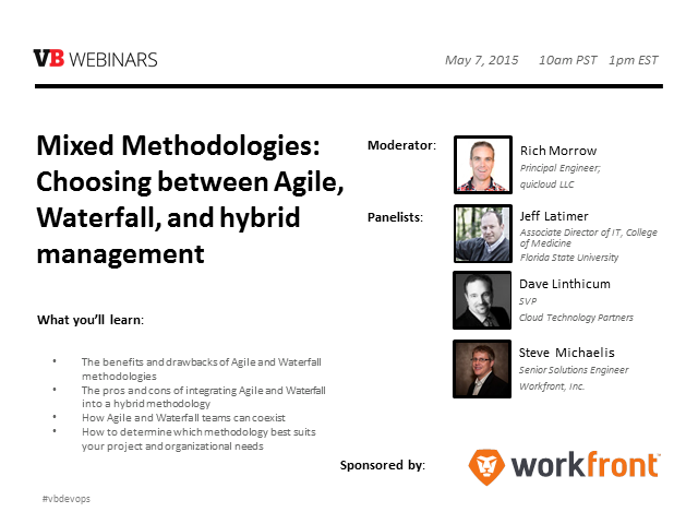 Mixed Methodologies: Choosing between agile, waterfall, and hybrid management