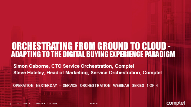 Orchestrating from Ground to Cloud – Adapting to the Digital Buying Experience