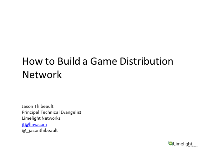 How to Build Your Own Game Distribution Network