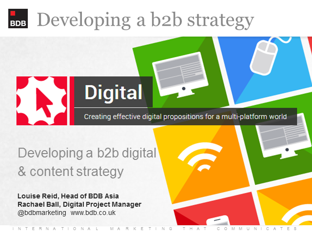Developing a b2b digital and content strategy