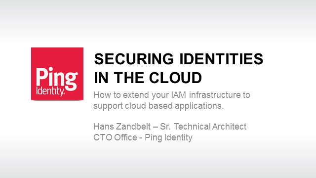 Securing Identity in the Cloud
