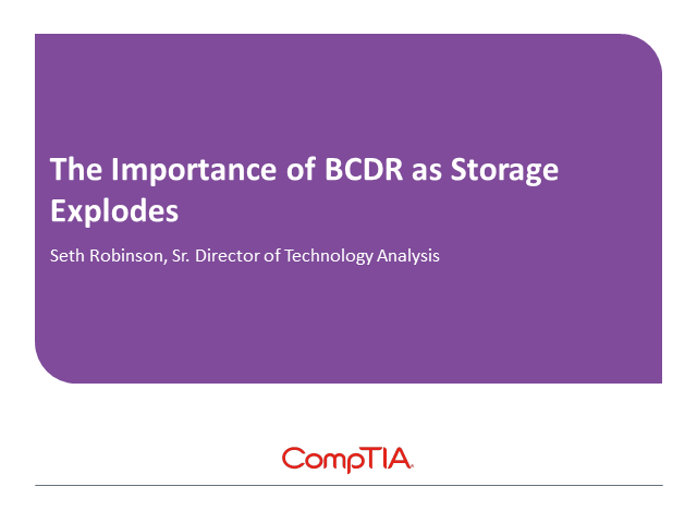 The Importance of BCDR as Storage Explodes