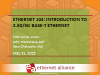 Ethernet 104: Introduction to 2.5G/5G BASE-T Ethernet