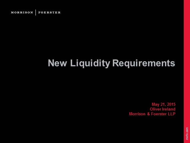 Regulating liquidity