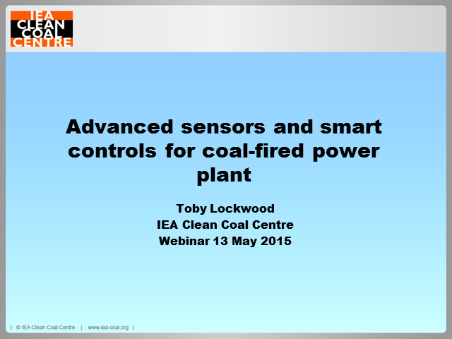 Advanced sensors and smart control systems for coal-fired power plants