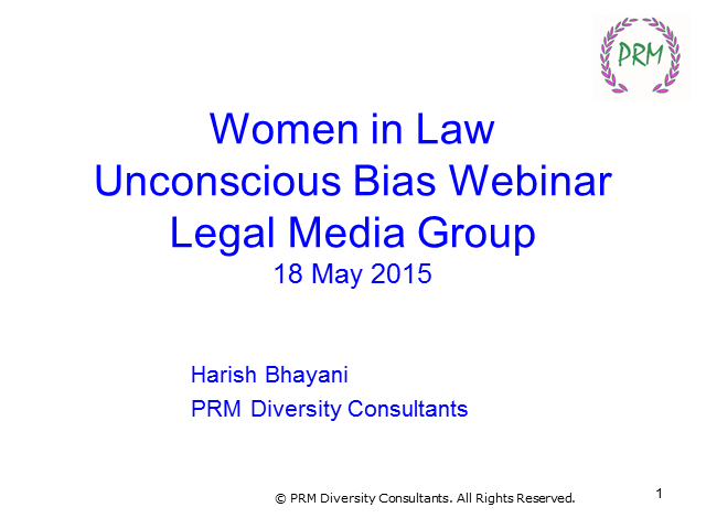 IFLR Women in Business Law: Unconscious Bias