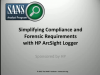 Simplifying Compliance and Forensic Requirements with HP ArcSight Logger