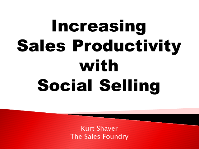 Increasing Sales Productivity with Social Selling