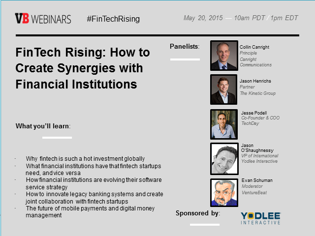FinTech Rising: How to Create Synergies with Financial Institutions