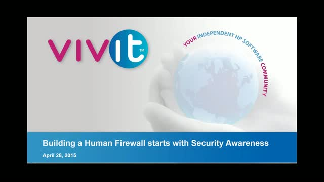 Building a Human Firewall starts with Security Awareness