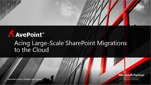 Ace Large-Scale SharePoint Migrations to the Cloud