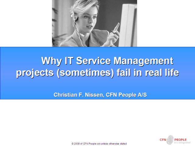 Why IT Service Management projects (sometimes) fail in real life
