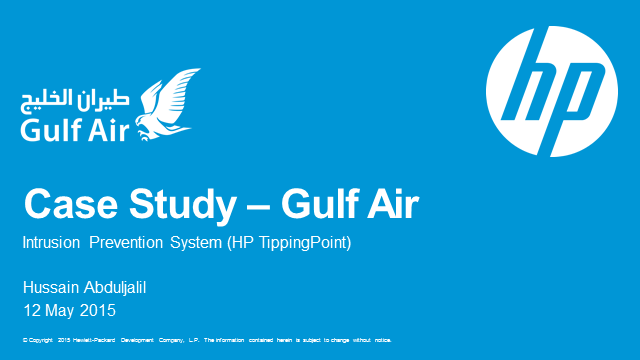 Gulf Air—Unifying network protection with HP TippingPoint