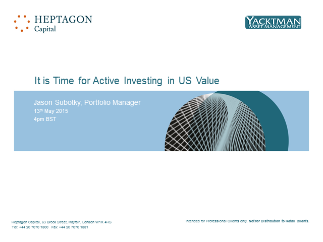It is time for active investing in US Value