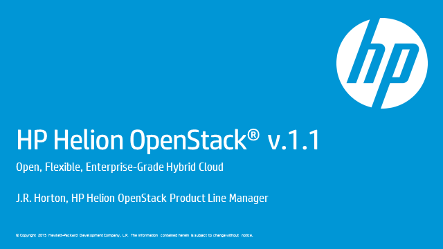 What's New with HP Helion OpenStack 1.1