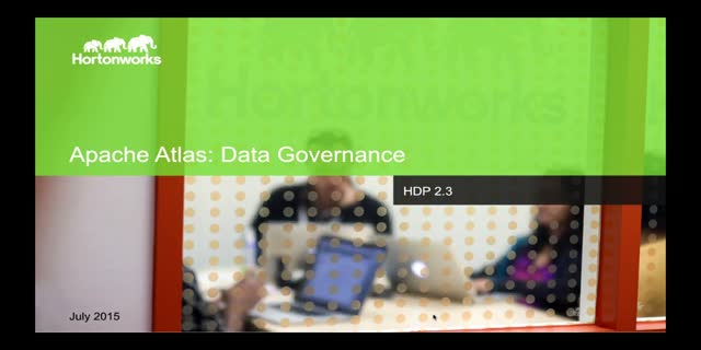 Hortonworks Technical Workshop: Effective Data Governance