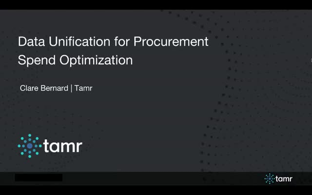 Data Unification for Procurement Spend Optimization