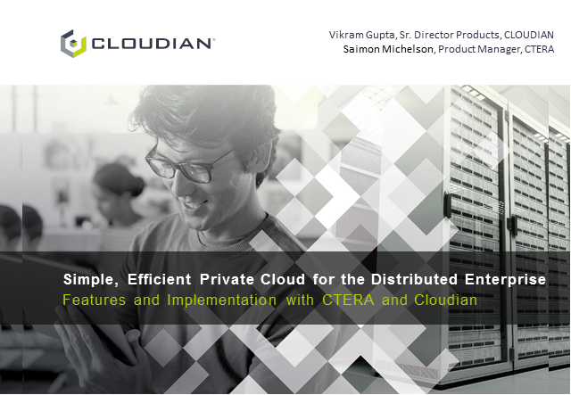 Build a simple and efficient private cloud for the distributed enterprise
