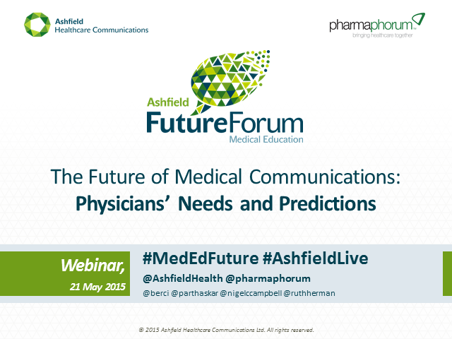 The Future of Medical Communications: Physicians' Needs and Predictions