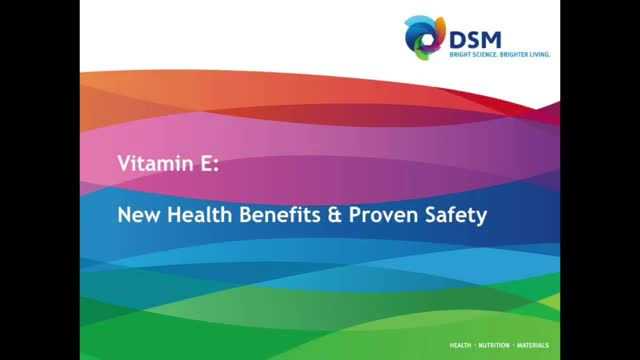 Vitamin E: new research on health benefits and proven safety