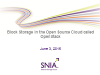 Block Storage in the Open Source Cloud called OpenStack