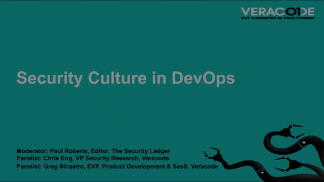 Driving a Culture of Security Through Product Development and Delivery