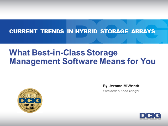 What Best-in-Class Storage Management Software Means for Your Environment