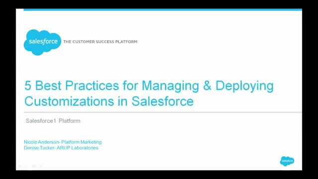 5 Best Practices for Managing & Deploying Customizations on Salesforce