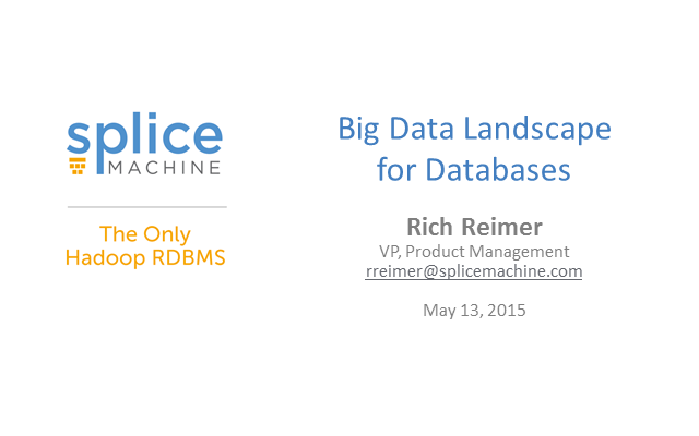 Big Data Landscape for Databases