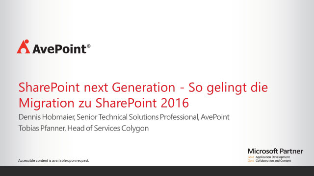SharePoint next Generation - So gelingt die Migration zu SharePoint 2016