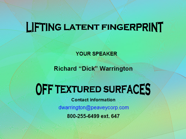 Lifting latent fingerprints off textured surfaces