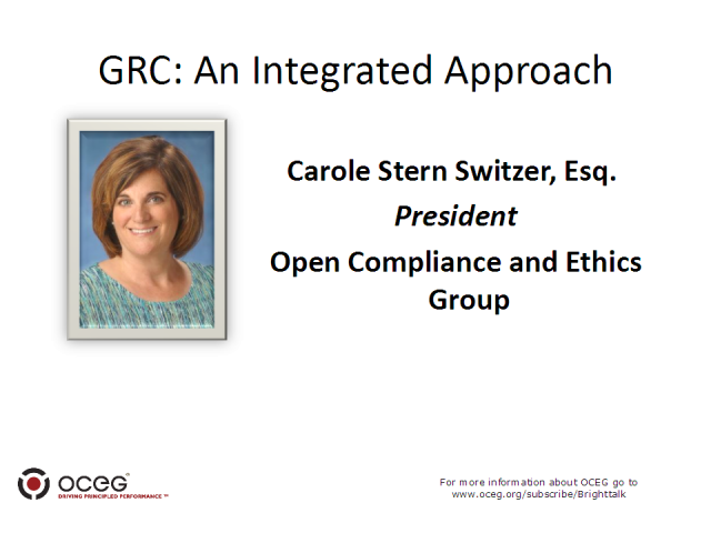 GRC: An Integrated Approach