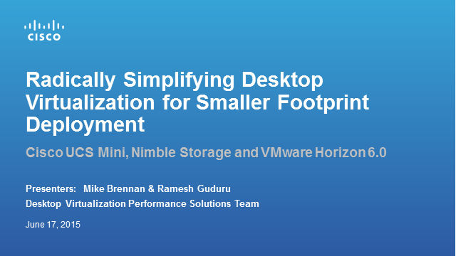 Simplifying Desktop Virtualization for Smaller Deployments – Horizon edition