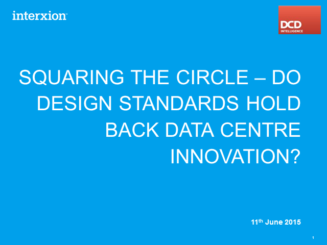 Do Industry Standards Hold Back Data Centre Innovation?