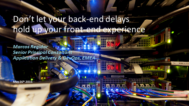 Don't let your back-end delays hold up your front-end experience