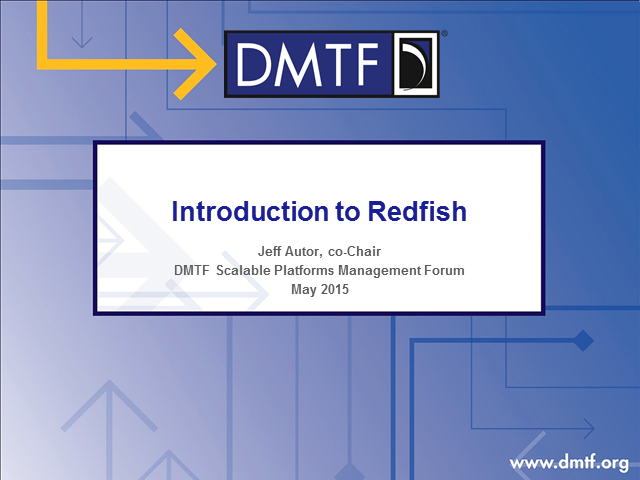 DMTF: Redfish Overview