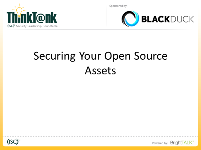 Securing Your Open Source Assets