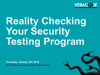 Reality Checking Your Security Testing Program