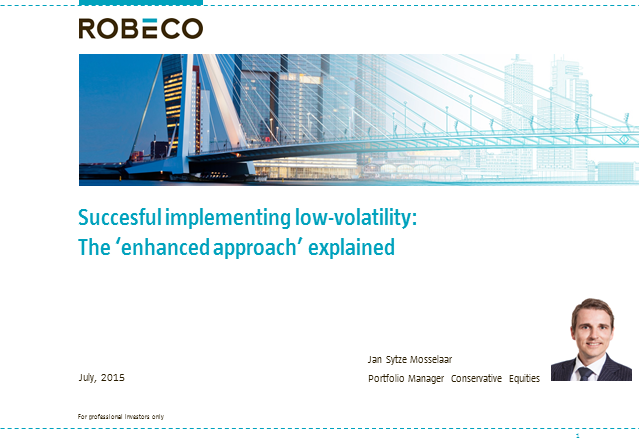 Successful implementing low-volatility: the Robeco enhanced approach explained