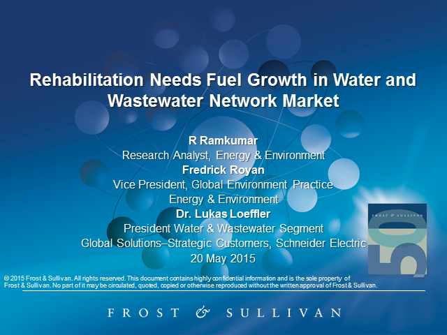 Rehabilitation Needs Fuel Growth in Water and Wastewater Network Market