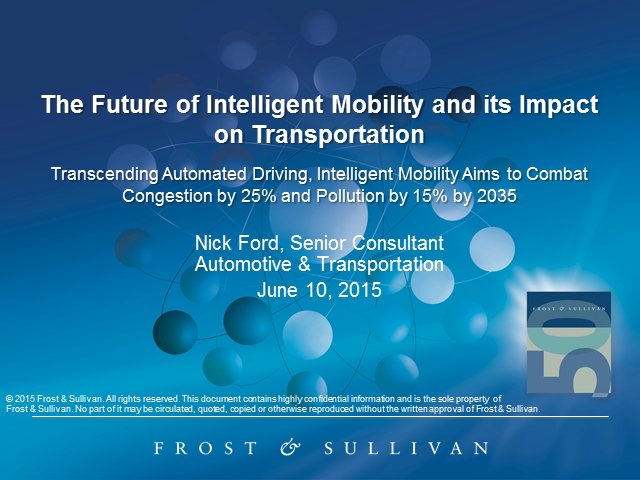Future of Intelligent Mobility and its Impact on Transportation