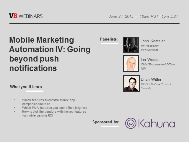 Mobile Marketing Automation Part IV: Going beyond push notifications