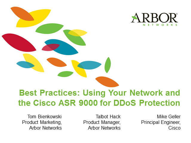 Using Your Network and Cisco ASR 9000 for Comprehensive DDoS Protection