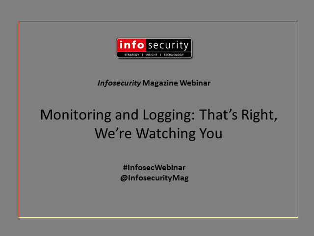 Monitoring and Logging: That's Right, We're Watching You