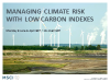 Managing Climate Risk with Low Carbon Indexes